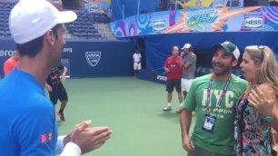 Djokovic come Cupido, innesca la proposta di matrimonio