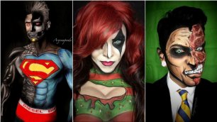 Il make-up artist ha i superpoteri Si trasforma in fumetto col trucco