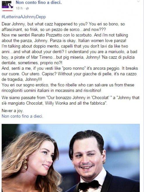Johnny Depp che ti è successo? L'ironia su Twitter