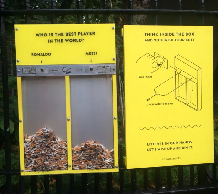 Stop a sigarette e chewing gum: l'idea geniale per strade più pulite