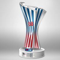 Ecco il trofeo, dedicato al Sic, che domenica andrà al vincitore della MotoGp