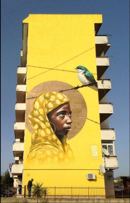 Muri per i migranti, gli street artist raccontano il dramma