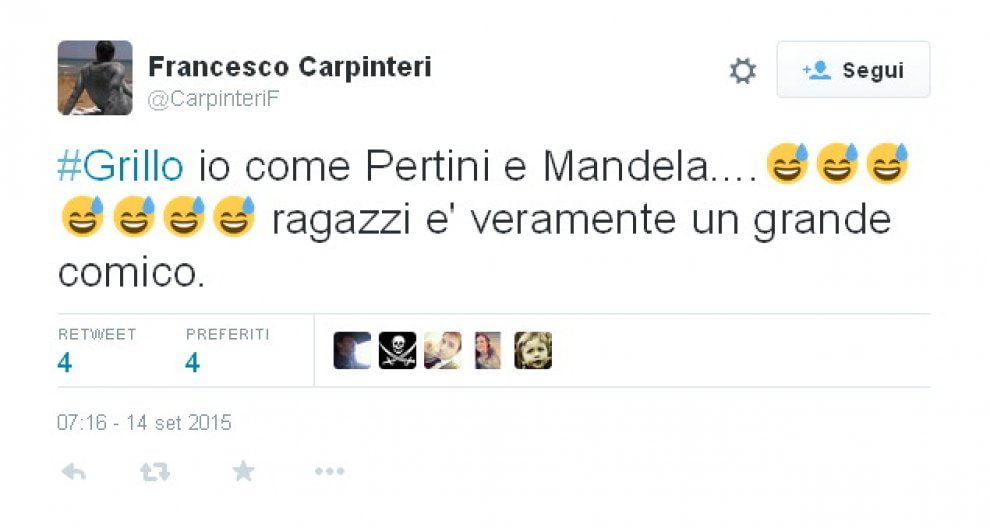 """Grillo: """"Io come Pertini e Mandela"""". Il web non perdona"""