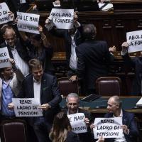 Esodati, la protesta della Lega arriva in Parlamento
