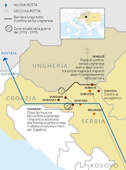 Cartina Della Slovenia E Croazia.Migranti Mappa La Nuova Rotta Verso Croazia E Slovenia Dopo Il Muro In Ungheria La Repubblica