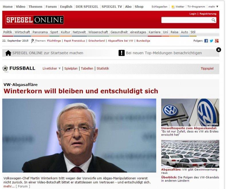 Volkswagen, lo scandalo visto dalla stampa tedesca