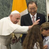 Papa Francesco alle Nazioni Unite: il saluto ai bambini