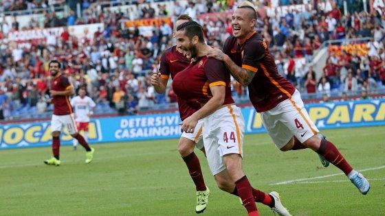 Roma-Carpi 5-1, i giallorossi ripartono forte