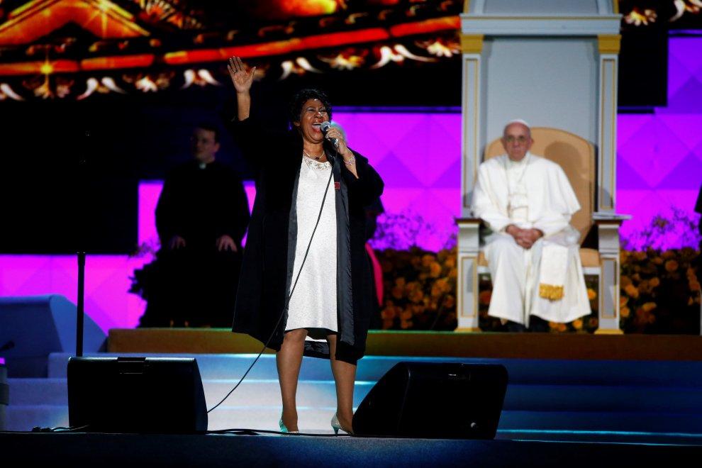 Philadelphia, show di Bocelli e Aretha Franklin per Papa Francesco