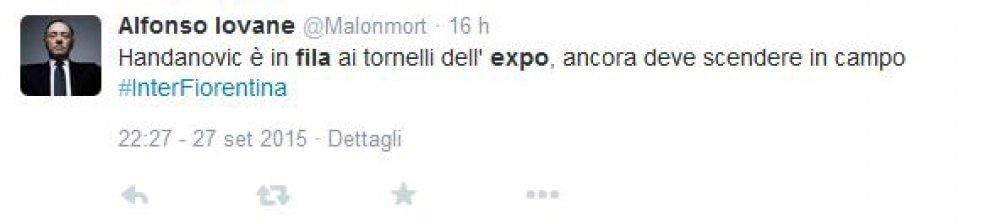 Inter-Fiorentina, su Twitter il processo ad Handanovic