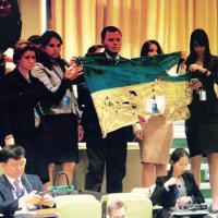Onu, delegazione ucraina lascia aula durante discorso Putin
