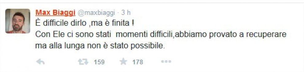 Max Biaggi e Eleonora Pedron, amore finito: lo annuncia il pilota su Twitter
