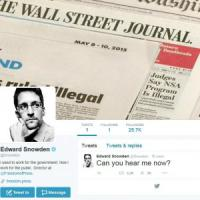 Snowden sbarca su Twitter: