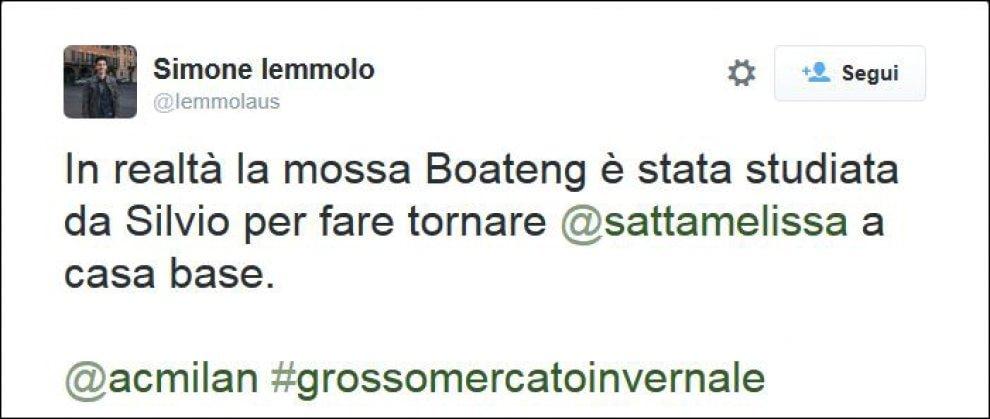 """Il Milan riprende Boateng, Twitter si scatena: """"Forse rivogliono Melissa Satta allo stadio"""""""