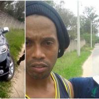 Brasile, Ronaldinho finisce fuori strada. Dopo l'incidente, selfie con i tifosi