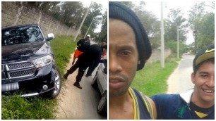 Ronaldinho, incidente e selfie