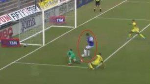 Samp-Inter, clamoroso Correa Solo a porta vuota, calcia fuori