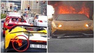 Sfida al rombo delle due Ferrari Troppo gas, Lamborghini a fuoco