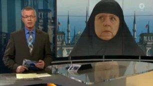 Fotomontaggio Merkel col chador Tv tedesca costretta a scusarsi