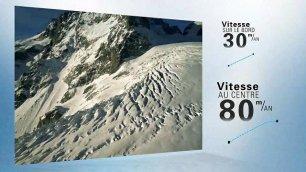 La marcia del ghiacciaio Time-lapse: 80 metri all'anno