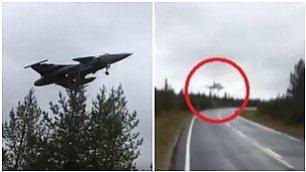 Il jet atterra sulla strada Esercitazione da brividi