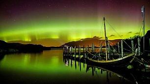 Show di luce nel Lake District   vd   l'aurora boreale sconfina a Sud
