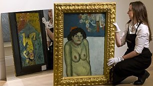 Due capolavori in un dipinto  all'asta 'La Gommeuse' di Picasso