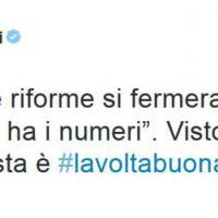 """Ddl riforme, Renzi su Twitter: """"Visto che i numeri ci sono?''"""