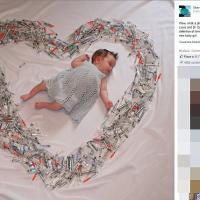 La bimba in un cuore di siringhe: la gioa dopo la fecondazione assistita