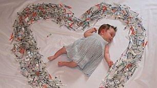 Il cuore di siringhe, scatto simbolo della battaglia per essere madre