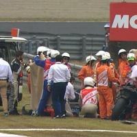 MotoGp, l'incidente di De Angelis: i soccorsi