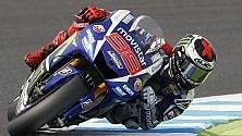 Iniziato duello mondiale  Lorenzo in pole, poi Rossi   Paura per De Angelis