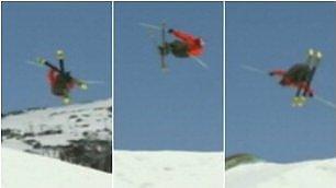 Triplo avvitamento e atterraggio su binario: salto record sulla neve