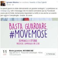 Roma,Marino su Facebook:
