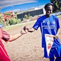 Calcio e solidarietà, le Vecchie Glorie dela Roma in campo contro la squadra dei rifugiati