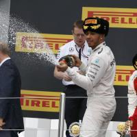 F1, Gp Russia: la festa di Hamilton con Putin sul podio