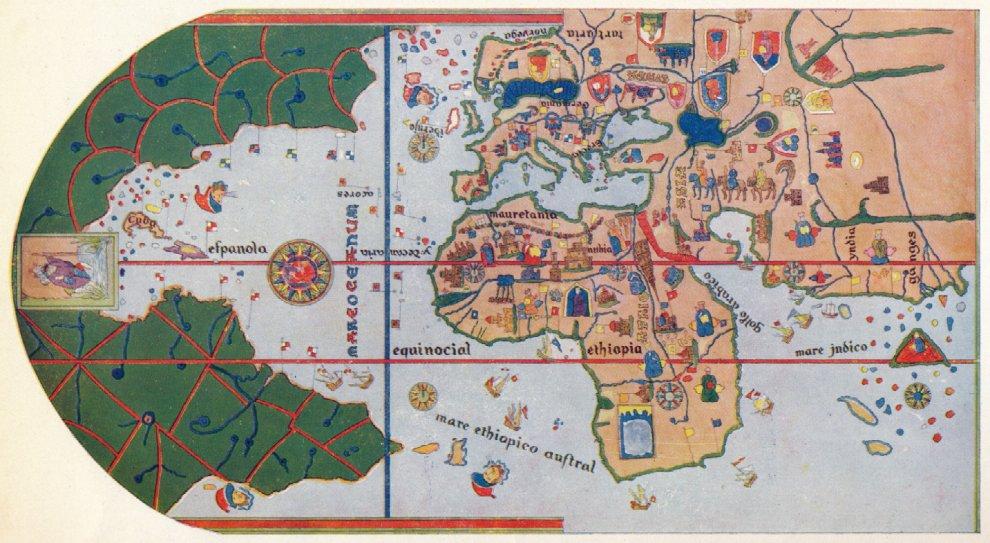 Cartina 1500.Columbus Day La Scoperta Dell America Ridisegna Il Mondo Le Mappe Storiche La Repubblica