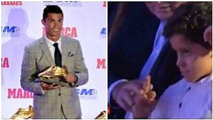 Ronaldo Junior, che combini dito medio a papà e scarpa d'oro