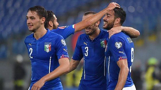 Italia-Norvegia 2-1, Florenzi e Pellè rialzano gli azzurri