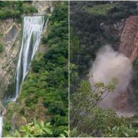 Maltempo, la cascata di Tivoli prima e dopo la piena dell'Aniene
