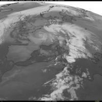 Il maltempo dal Centro al Sud Italia, le immagini dal satellite