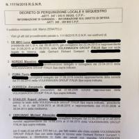 Volkswagen il decreto di perquisizione