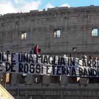 De Rossi, 500 partite in maglia Roma: striscione al Colosseo