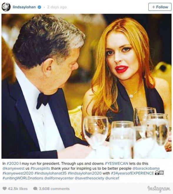 Usa, da 'mean girl' a presidente degli Stati Uniti: la candidatura di Lindsay Lohan