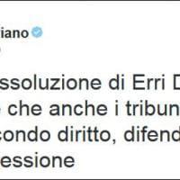 Erri De Luca assolto, Twitter festeggia con #IoStoConErri
