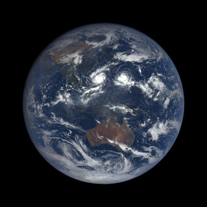 Effetto Blue Marble La Terra Vista Dallo Spazio