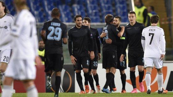 Lazio-Rosenborg 3-1: biancocelesti in 10 per 84', vittoria di cuore e carattere