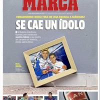 MotoGp, la querelle tra Rossi e Marquez sui giornali spagnoli