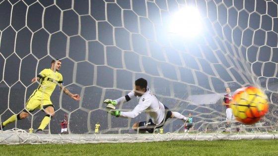 Bologna-Inter 0-1: Icardi torna al gol, i nerazzurri vincono in dieci