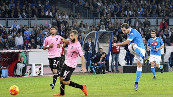 Napoli-Palermo 2-0: azzurri inarrestabili, rosanero mai in gara